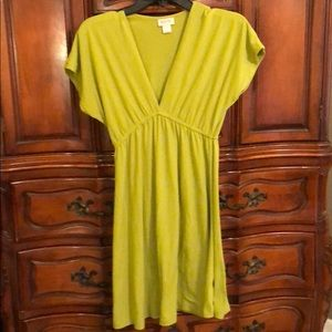 Mossimo Green Cotton Swimsuit Cover-Up Dress